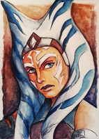 Ahsoka Sketchcard by CalSparrow