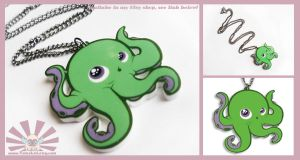 TOMO OCTO - Kawaii Necklace Charm by TomodachiIsland