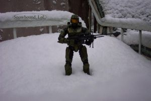 Chief in the snow 1 by SoundwaveSuperior