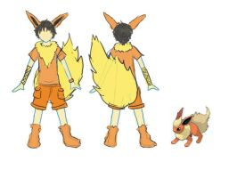 PKM: Flareon Cosplay Design by TamRaki