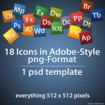 Adobe Style Icons + Template by einfachnurbastian