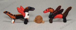 Mini Patchwork Dragons No. 18 And 19 by Kyle-Lefort