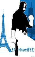 THE ANSWER PARIS BLUES by artist Tom Kelly by TomKellyART