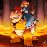Commission - Bowser and Jessie by ClaraKerber