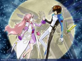 Kira and Lacus by strikezero