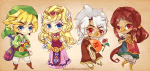 LOZ: Wind Waker Chibis by MindlessFrappe