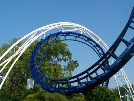 Cedar Point's Corkscrew: Loop by courtniemiller