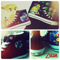 The Legend of Zelda custom Converse by Nao-Chan-91