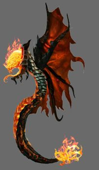 Fire snake)(Adopt)(OPEN) by frostlightqqq
