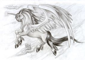 The Last winged Unicorn by DamienMuerte