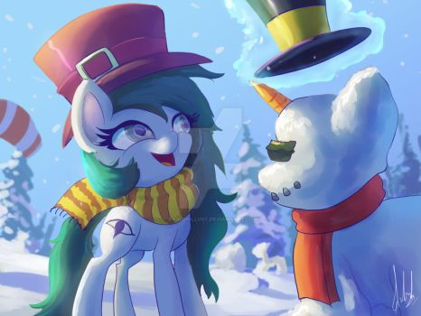 Making Snowpony with Kinesis by Raikoh-illust