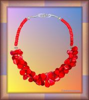 BAMBOO CORAL CHOKER by Voodoomamma