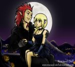 Halloween, the Kitty and the Wolf by Rescued-Doll
