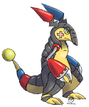 Electric/Steel Fakemon (Armadillo-thingie) by Arceus55