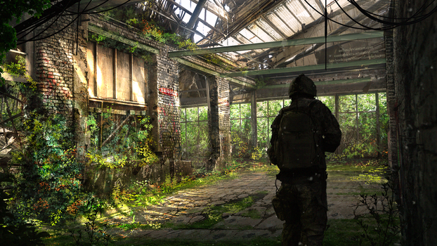 Exploring Overgrown Building by Aeflus