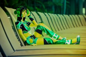 Ame Comi Jade Cosplay- so MUCH green! by JFamily