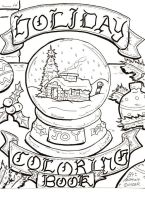 Holiday Coloring Book Cover by lagatowolfwood