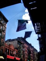 Flags in Litte Italy by stitch52481
