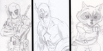 SKETCH DUMP - Marvel Top 3 by Call-Of-The-Indie
