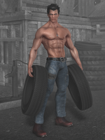 fred with tires by Flinog