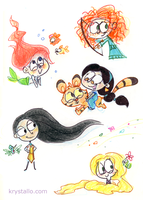 Princess doodles by nef