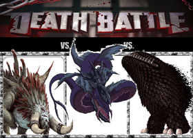 Triple Death Battle: Gigantic Monsters by Austria-Man