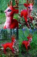 Felted TEF-deer by Spyrre
