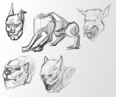 Ware Wolf Head Concepts by Balambao