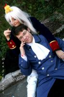 Prussia taking care of Austria by dannsegoshi