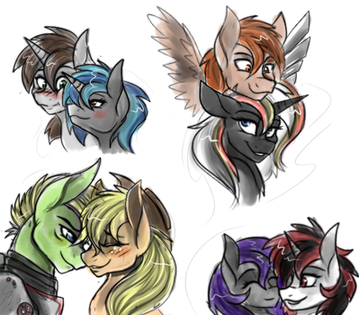 Fallout Equestria sketches by Derpsonhooves