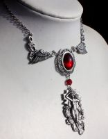 Bloody Aurora Necklace by Pinkabsinthe