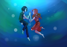 Lilly and Snape by Brixyfire