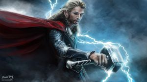 Thor 2 (2013) Digital Painting by minifong