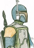 Boba Fett pastels by LauraInglis