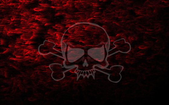 Red Smoke Skull Wallpaper by finnegane