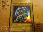 My First Blue-Eyes White Dragon by ChaoticTempleKnight