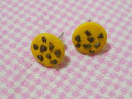 Chocolate Chip Cookies Studs Earrings by MarzapanArt