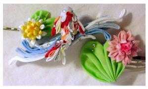 Water Garden Kanzashi Set by EruwaedhielElleth