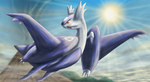 Mega Latios by Cinnamon-Quails