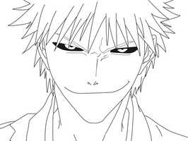 Line Art: Hollow Ichigo by Ichigo-DA