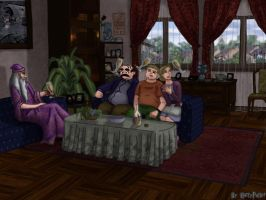Dumbledore at the Dursleys' by Harry-Potter-Spain