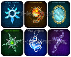 Magic items set (8) by Rittik-Designs