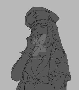 Esdeath (early sketch) by raed0