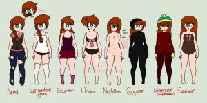 Jennifer outfits by S-K-Y-L-I