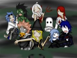 Fairy Tail Halloween by xmizuwaterx