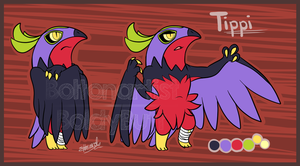 Tippi the Hawlucha ref by Boltonartist