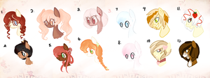 !UPDATE Auction : Bubblehead Ponies by Laurel3aby