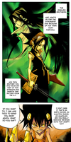 Colouring: Shaman King and Jumbor pages by Wilkoak