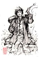 Young Baggins Ink Sketch by MyCKs