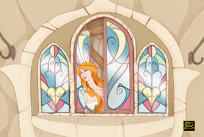 Rapunzel Nabunzel in Window by Efrayn